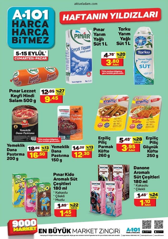 a101 5 eylül 2020 haftanın yıldızları süt ürünleri