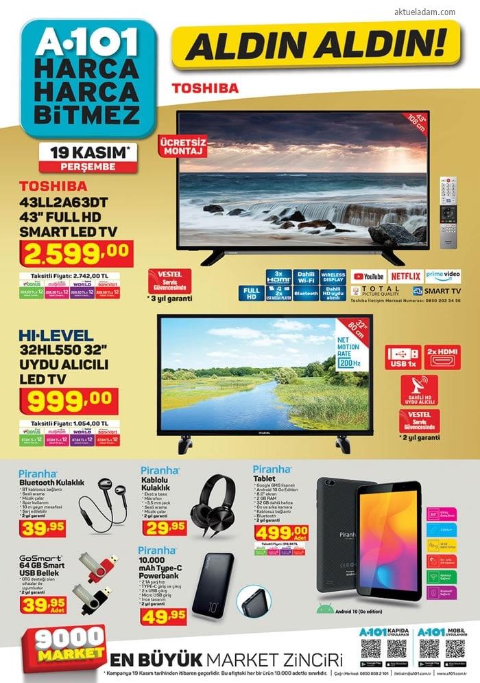 A101 19 Kasım 2020 tv ürünleri